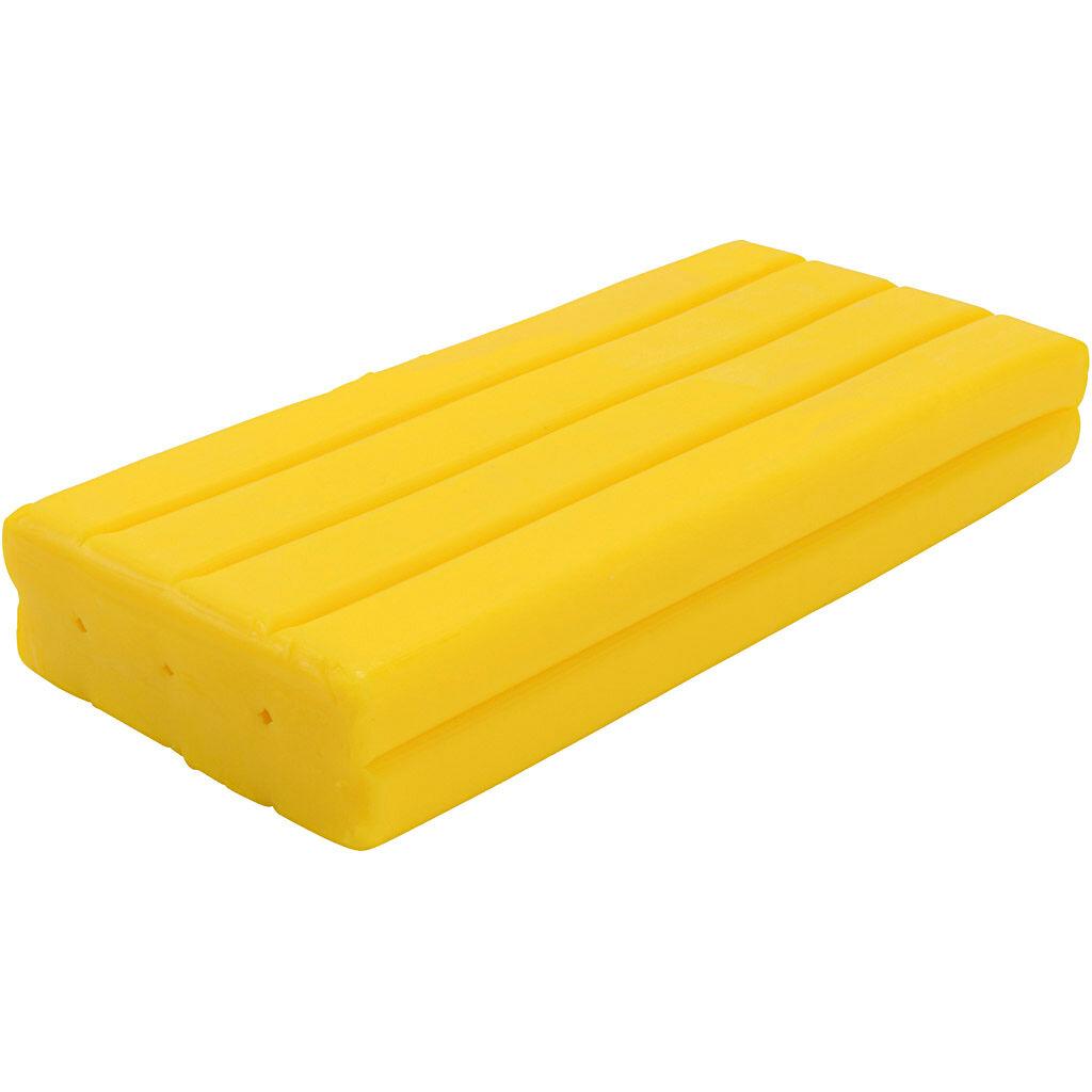 Creativ Company Pâte à modeler Softy, jaune, 500 gr/ 1 Pq.