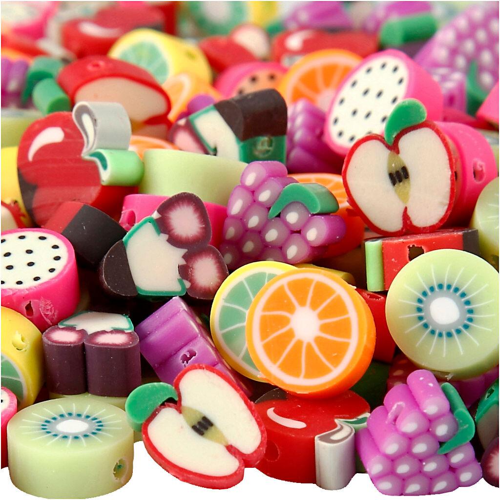 Creativ Company Perles en argile, d: 10 mm, diamètre intérieur 1,5 mm, 200 ass./ 1 Pq.