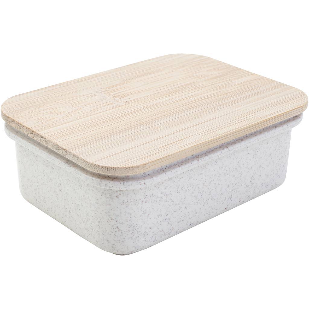 Creativ Company Boîte avec couvercle en bois, 10 pièce/ 1 Pq.