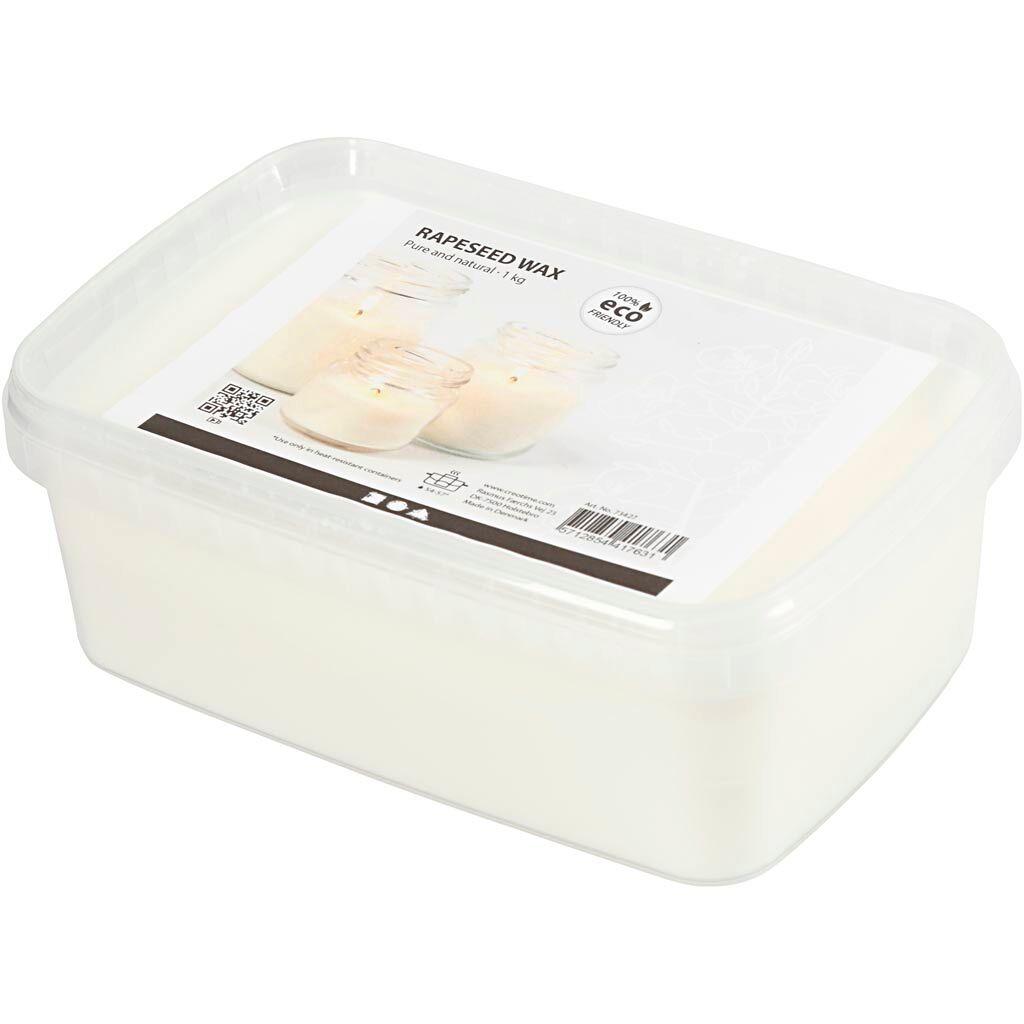 Creativ Company Cire de colza, blanc cassé, 1 kg/ 1 Pq.