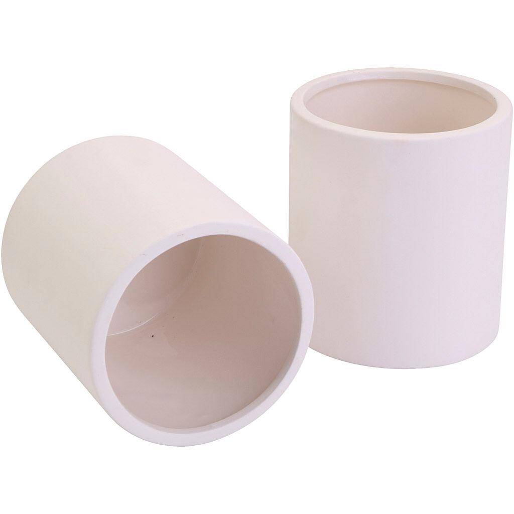 Creativ Company Bocaux en céramique, d: 9 cm, dim. 10 cm, 12 pièce/ 1 Pq.