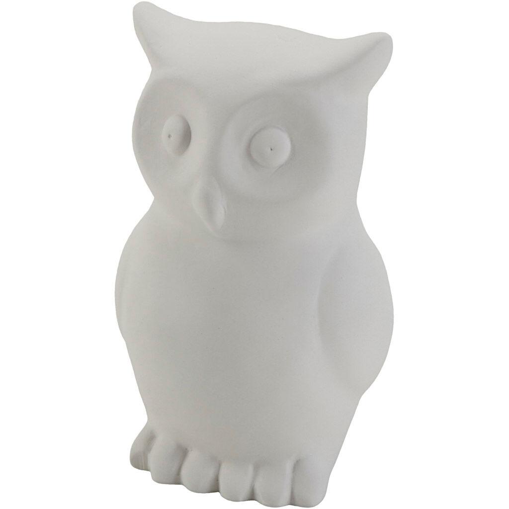 Creativ Company Tirelires en forme d'animaux, Hibou, dim. 11x7x6 cm, 6 pièce/ 1 Pq.