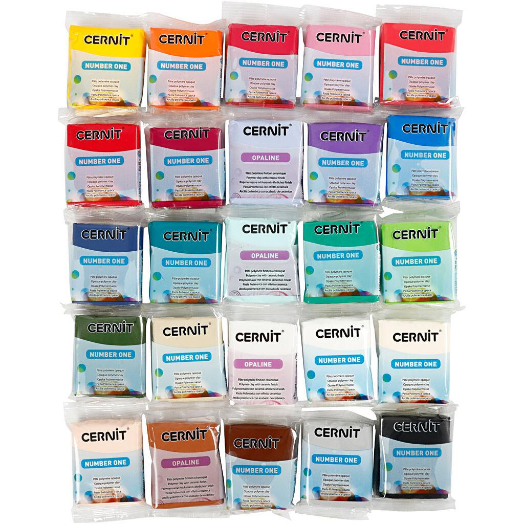 Cernit, couleurs assorties, 25x56 gr/ 1 Pq.