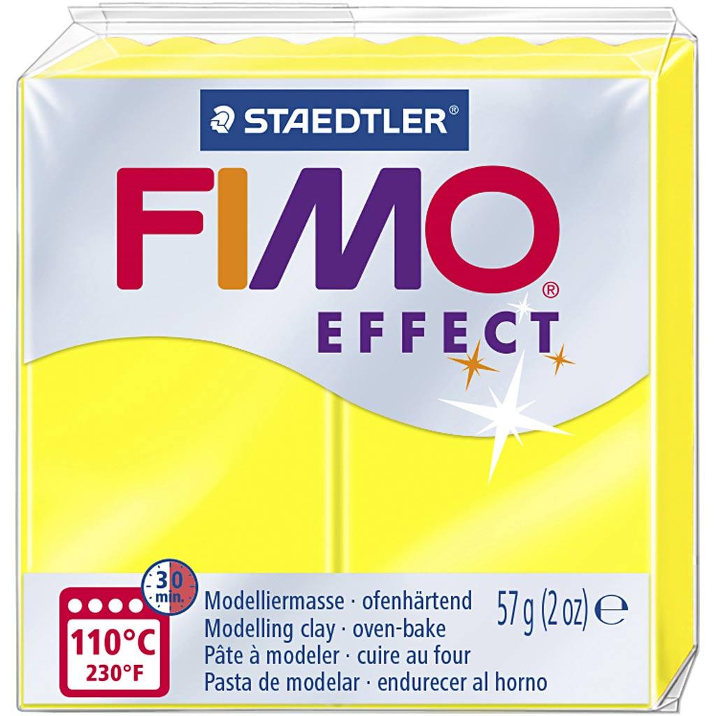 Fimo Effect, Jaune Néon, 57 gr, 1 Pq.