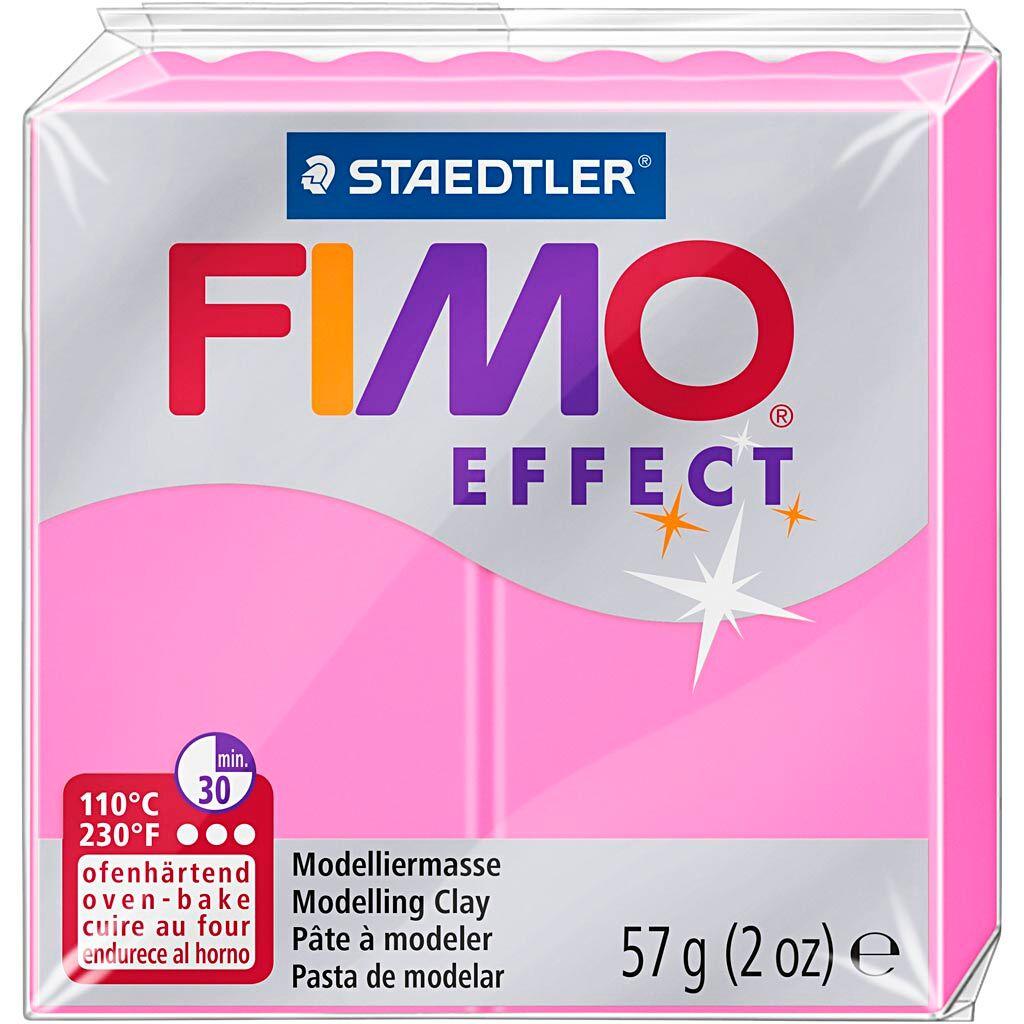 Fimo Effect, Rose Néon, 57 gr, 1 Pq.