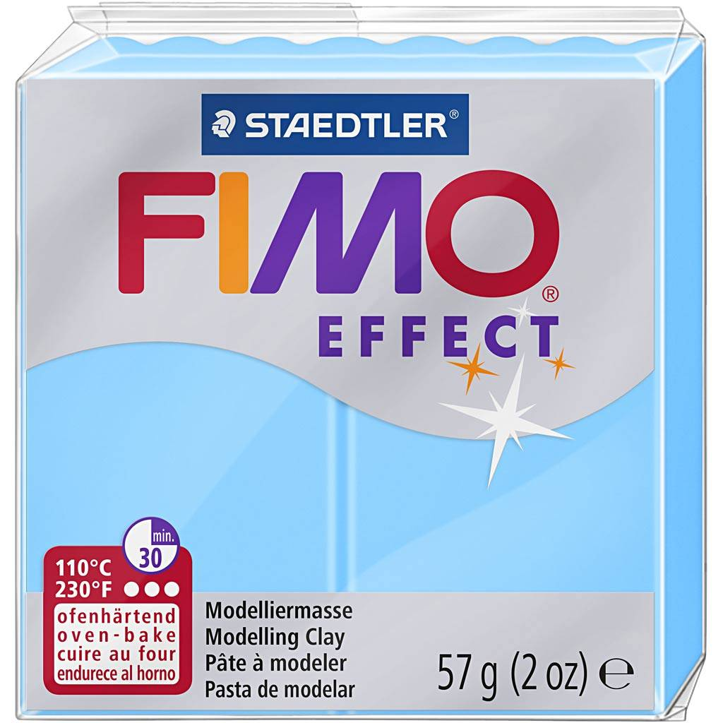 Fimo Effect, Bleu Néon, 57 gr, 1 Pq.
