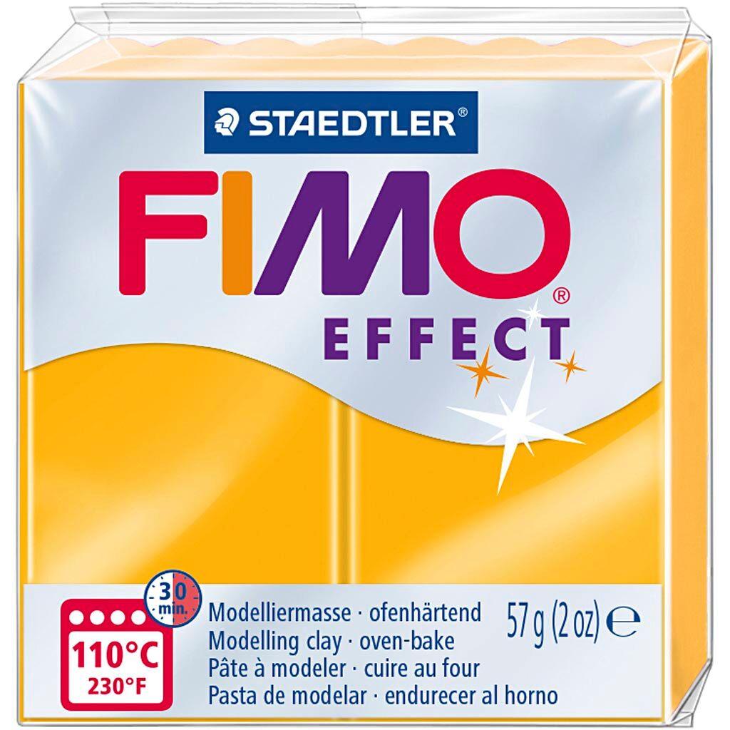 Fimo Effect, Orange Néon, 57 gr, 1 Pq.