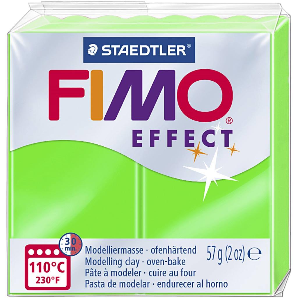 Fimo Effect, Vert Néon, 57 gr, 1 Pq.