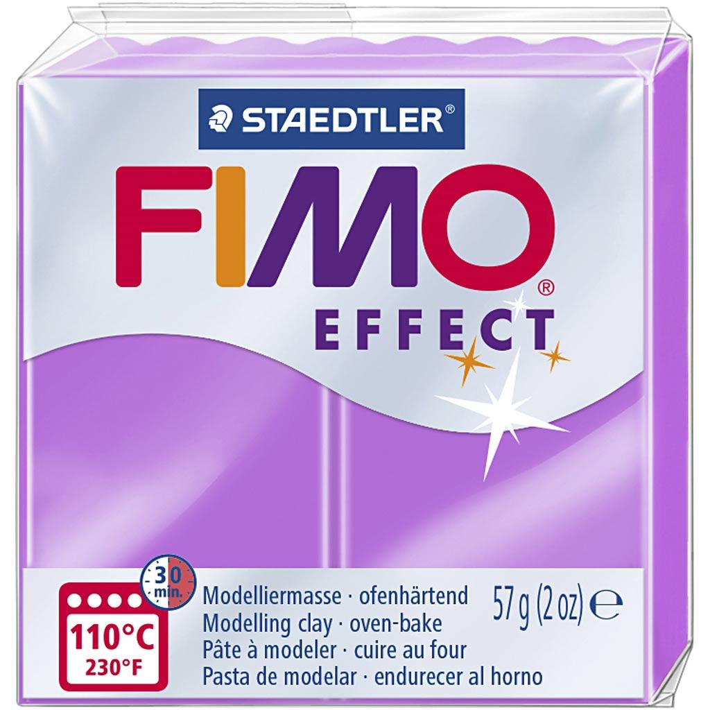 Fimo Effect, Violet Néon, 57 gr, 1 Pq.