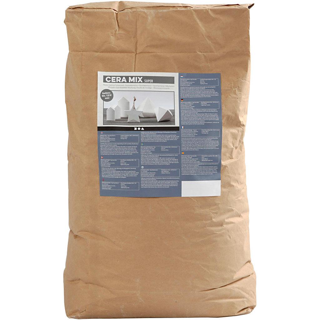 Creativ Company Poudre de moulage Cera-Mix Super, blanc, 25 kg/ 1 Pq.