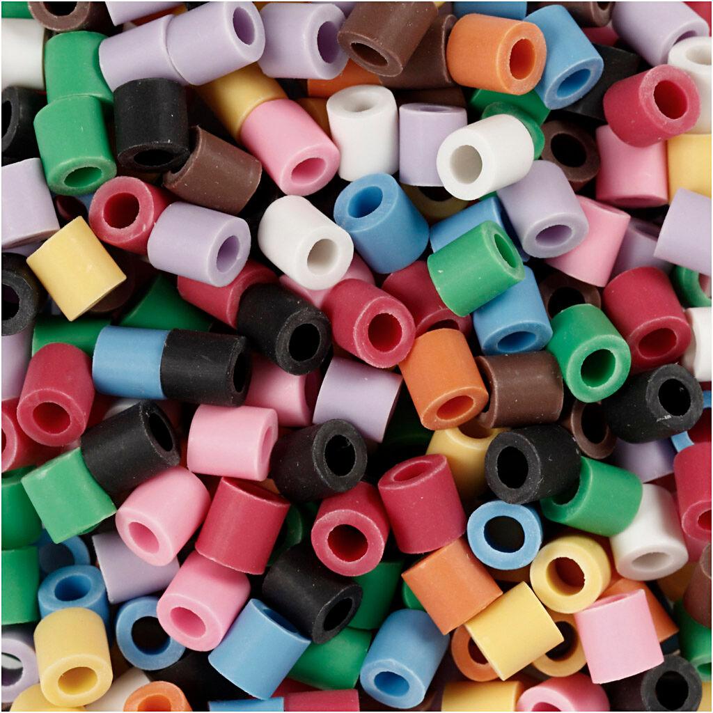 Nabbi Perles Nabbi Bio, dim. 5x5 mm, medium, couleurs assorties, 3000 pièce/ 1 Pq.