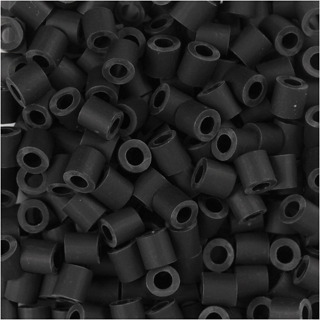 Nabbi Perles Nabbi Bio, dim. 5x5 mm, medium, noir, 3000 pièce/ 1 Pq.