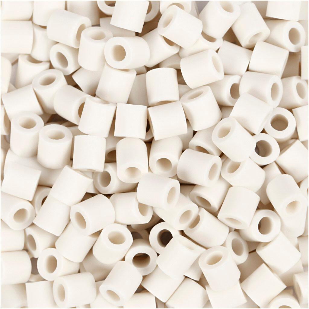 Nabbi Perles Nabbi Bio, dim. 5x5 mm, medium, blanc, 3000 pièce/ 1 Pq.