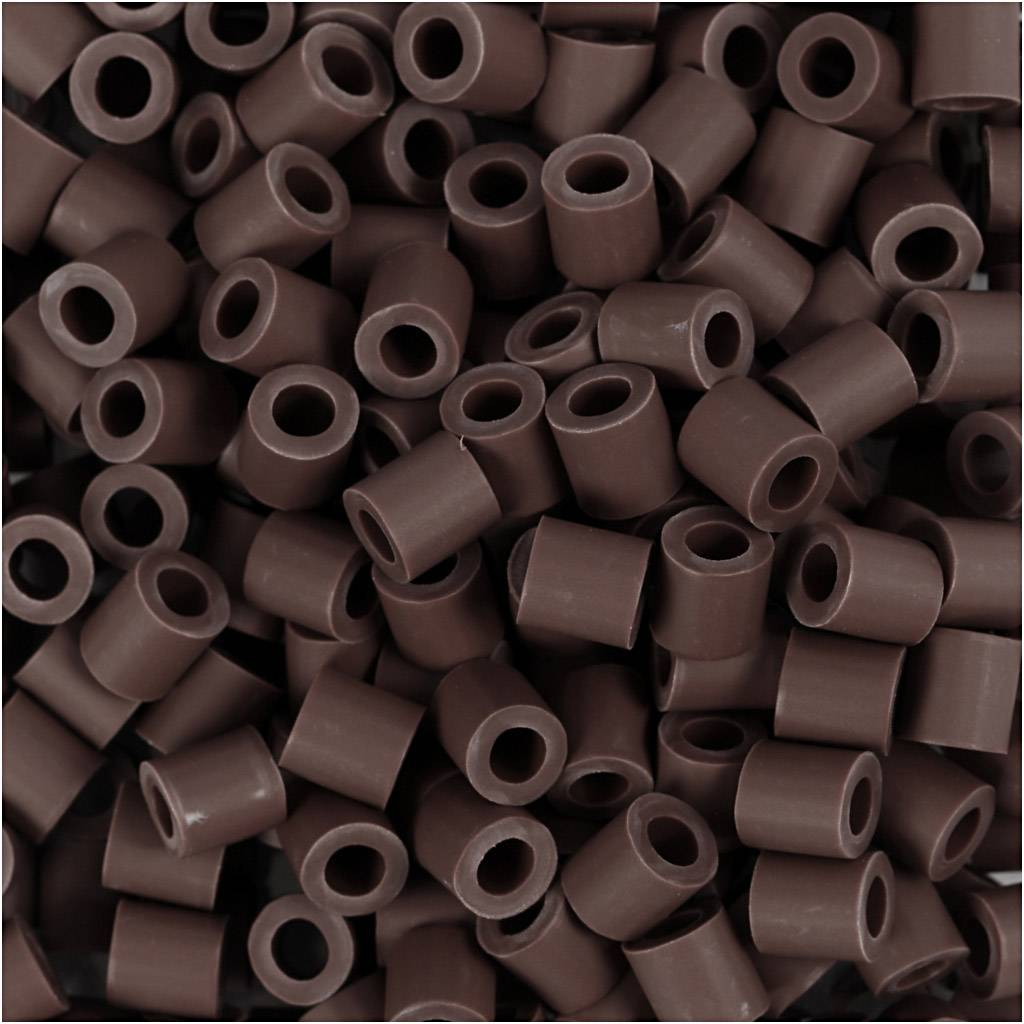 Nabbi Perles Nabbi Bio, dim. 5x5 mm, medium, brun, 3000 pièce/ 1 Pq.