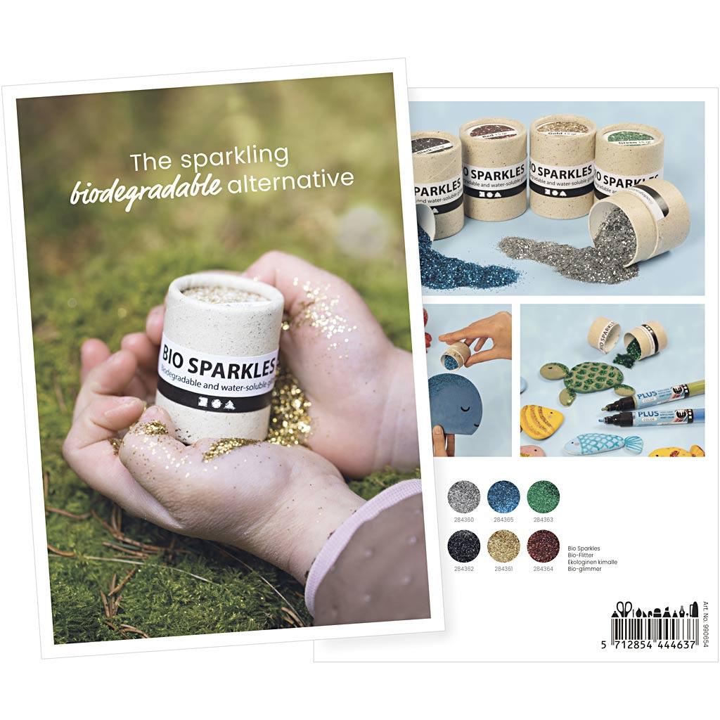 Creativ Company Carte Postale De Produit, Paillettes Bio, A5, 14,8x21 cm, 1 Pièce