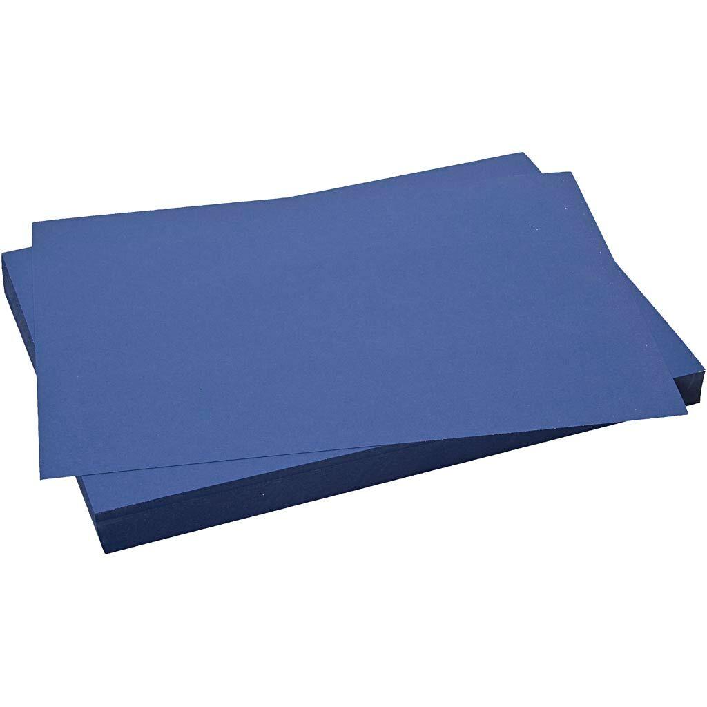 Creativ Company Papier cartonné coloré, 50x70 cm, 270 gr, bleu nuit, 10 flles/ 1 Pq.