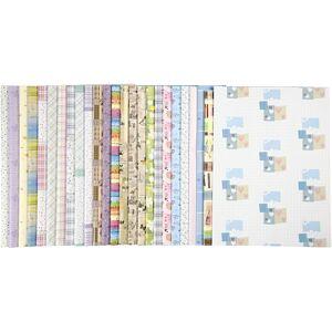 Creativ Company Papier Cadeau, 52x75 cm, 80 gr, 2 Flles, 25 Ass. Publicité