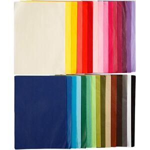 Creativ Company Papier De Soie, A4, 210x297 mm, 14 gr, 10 Flles, 30 Couleur - Publicité
