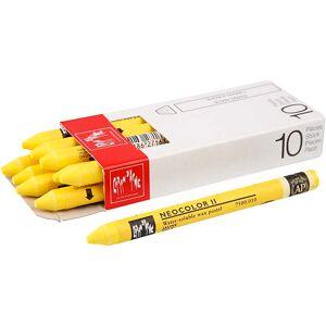 CaranDache Caran D'ache Néocolor 2, L: 10 cm, Yellow (010), 10 Pièce, 1 Pq. Publicité