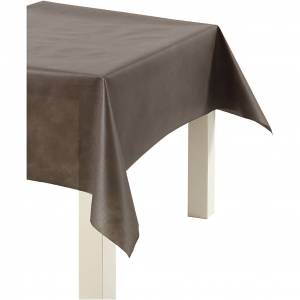HappyMoments Nappe De Table Ou Immitation Tissu, L: 125 cm, 70 gr, Brun, 10 M, 1 Rouleau - Publicité
