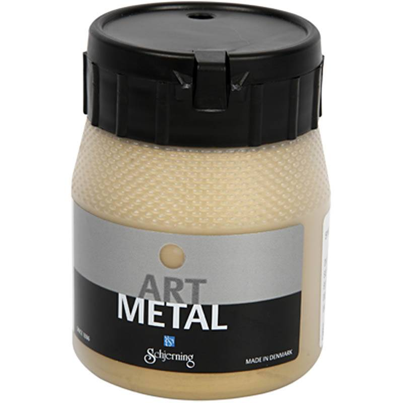 Creativ Company Peinture Art Metal, or clair, 250 ml/ 1 flacon