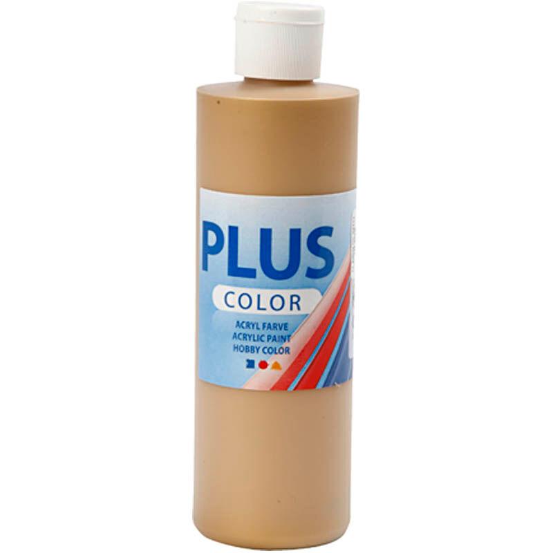 PlusColor Peinture acrylique Plus Color, or, 250 ml/ 1 flacon