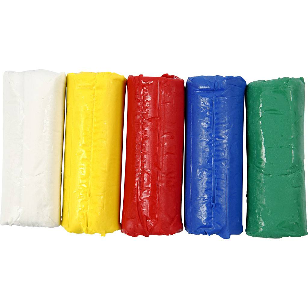 Creativ Company Pâte à modeler douce, H: 9,5 cm, couleurs assorties, 400 gr/ 1 seau