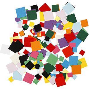 Creativ Company Mosaïques En Papier Cartonné, Carré, 10+15+20 mm, 180 gr, 1 Pq. Publicité