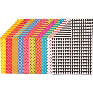 Creativ Company Papier Cartonné À Motifs, A4, 210x297 mm, 250 gr, Couleurs Assorties, 200 Flles Ass. Publicité