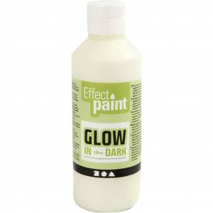 Creativ Company Glow In The Dark, Jaune Fluorescent, 250 ml, 1 Flacon - Publicité