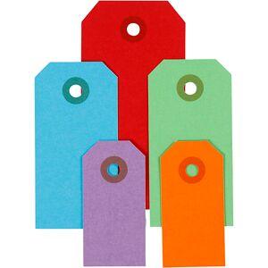 Creativ Company Etiquettes Cadeaux, 3x6+4x8+5x10 cm, 220 gr, Couleurs Assorties, 500 Pièce - Publicité