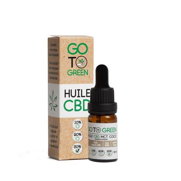 GotoGreen Huile CBD base MCT Bio - Spectre Complet 30 %