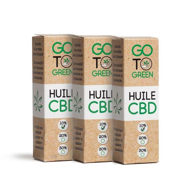 GotoGreen Huile CBD base MCT Bio 10 % Big Green 1