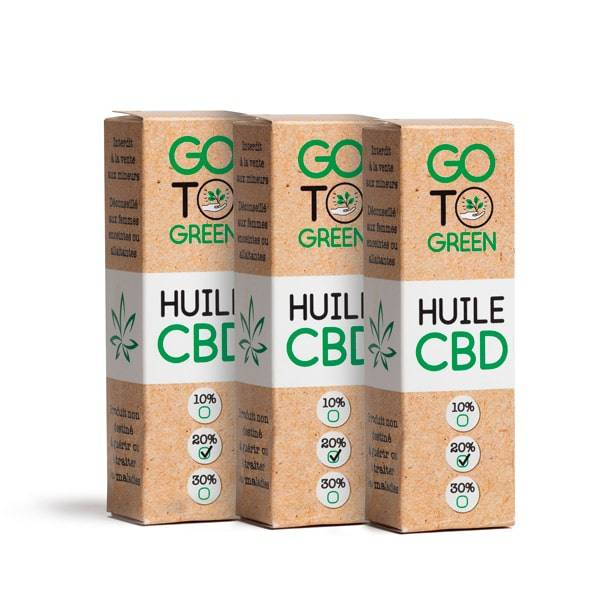 GotoGreen Huiles CBD base MCT Bio - Big Green 2