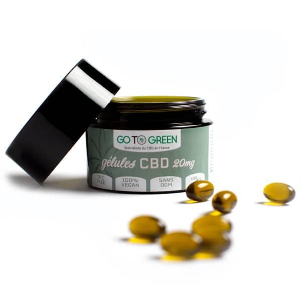 GotoGreen Gélule CBD Vegan 20 mg et vitamine B12
