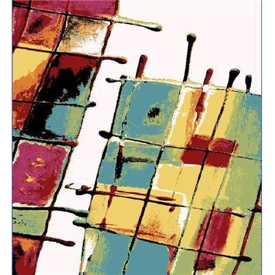 Happymobili Tapis de salon multicolore design CORAL
