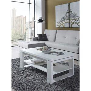 Happymobili Table basse relevable blanc contemporaine CLIVE - Publicité