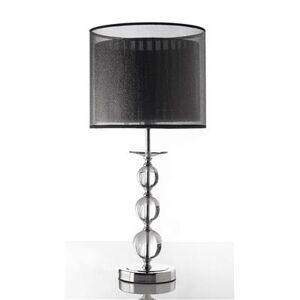 Happymobili Lampe à poser abat-jour noir et acier chromé HILDA - Publicité