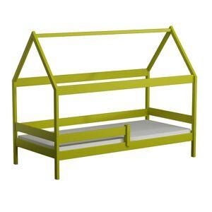 Petite Chambre Lit cabane en bois Domek   Vert   90 cm x 180 cm   Bois massif   petitechambre.fr - Publicité