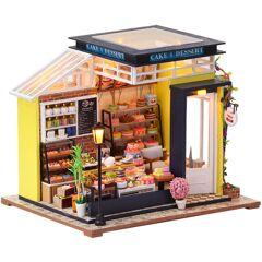 ASUPERMALL Bricolage Jouet Maison De Poupee Miniature Cuisson Miel Assembler Maison De Poupee Kit Avec Meubles Avec Lumiere Et Musique Enfants Cadeau