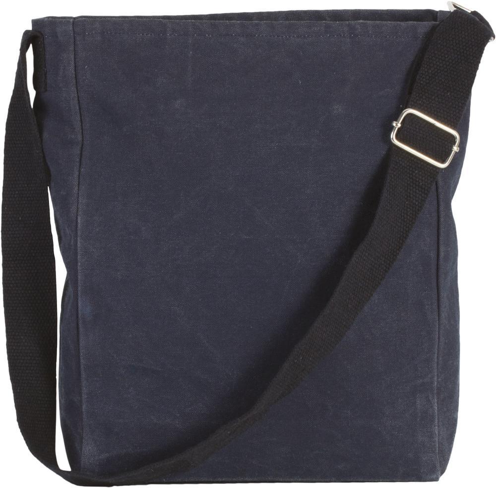 Kimood Pack 50 Kimood KI0351 - Unisexe Sac bandoulière en coton canvas Washed Blue Titanium