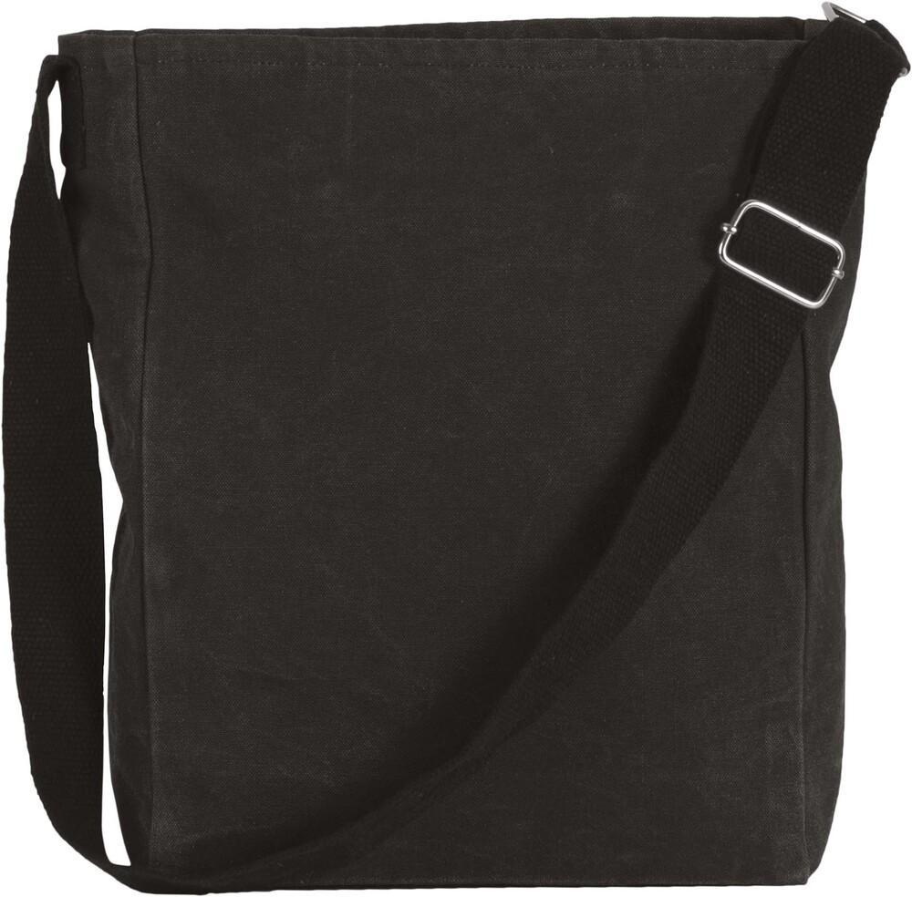 Kimood Pack 50 Kimood KI0351 - Unisexe Sac bandoulière en coton canvas Washed Black