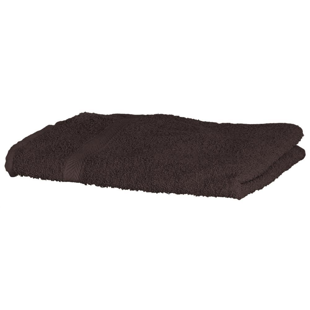 Towel city TC003 - Serviette de Toilette Chocolat - Taille 90x50cm - ringspun
