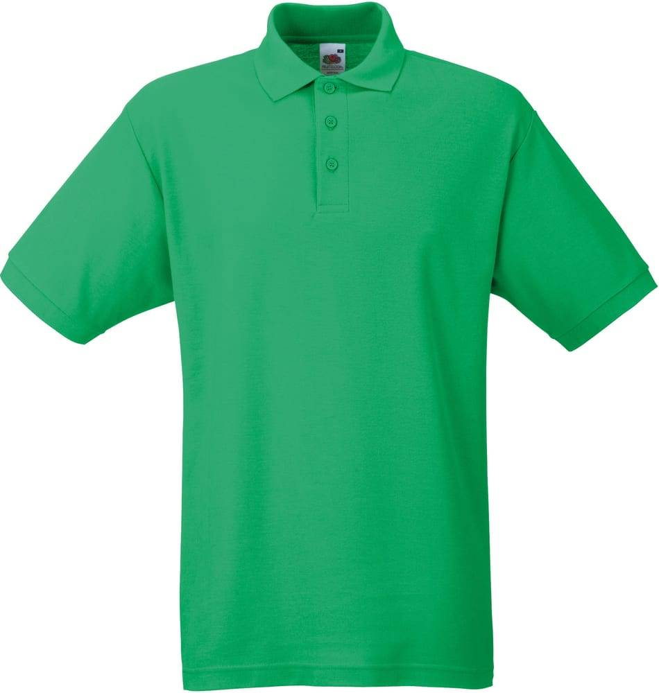 Fruit of the Loom SC63402 - Polo Homme Pique Vert Kelly - Taille XXL