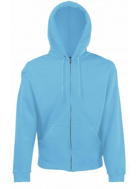 Fruit of the Loom SS222 - Hommes Sweat-shirt à zippé Classic 80/20 Azure Blue - L - cotton/polyester