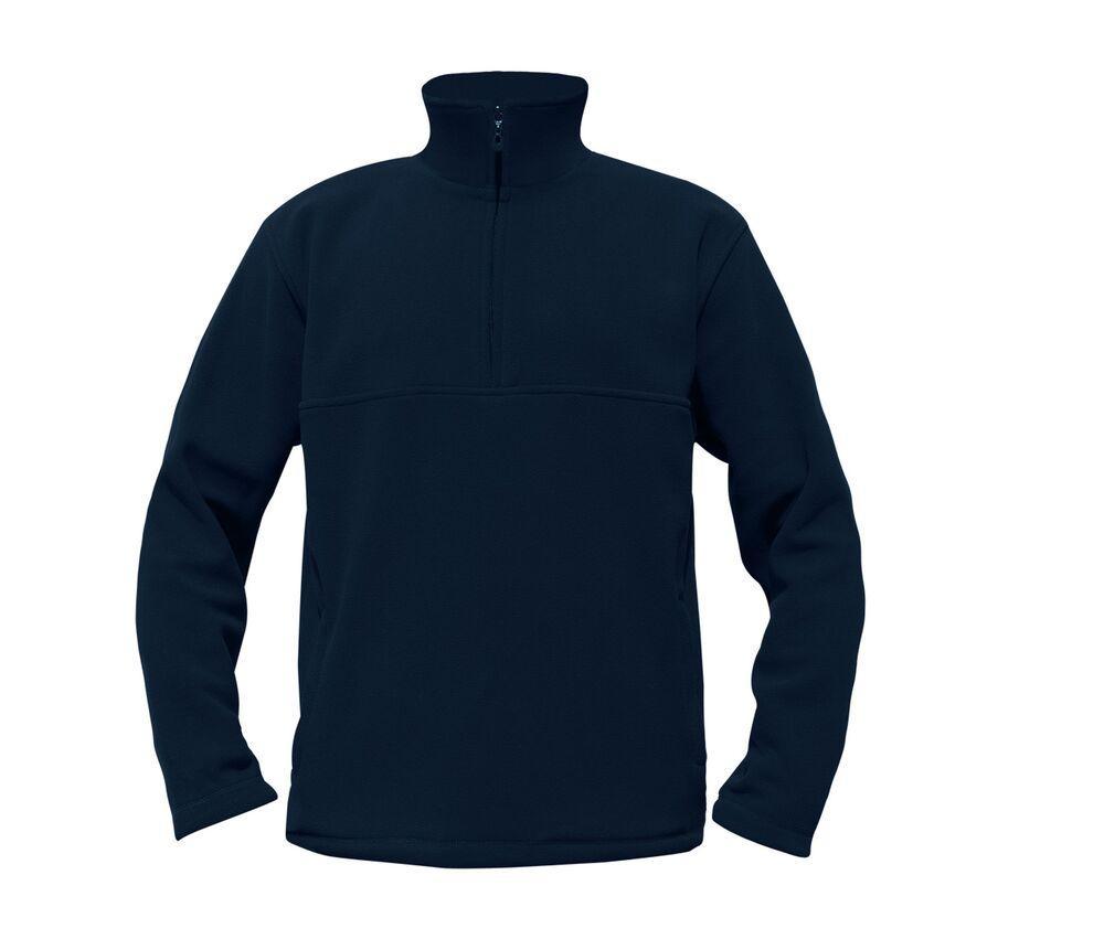 Starworld SW77N - Polaire Homme Col Zippé Marine - M - polyester/wool