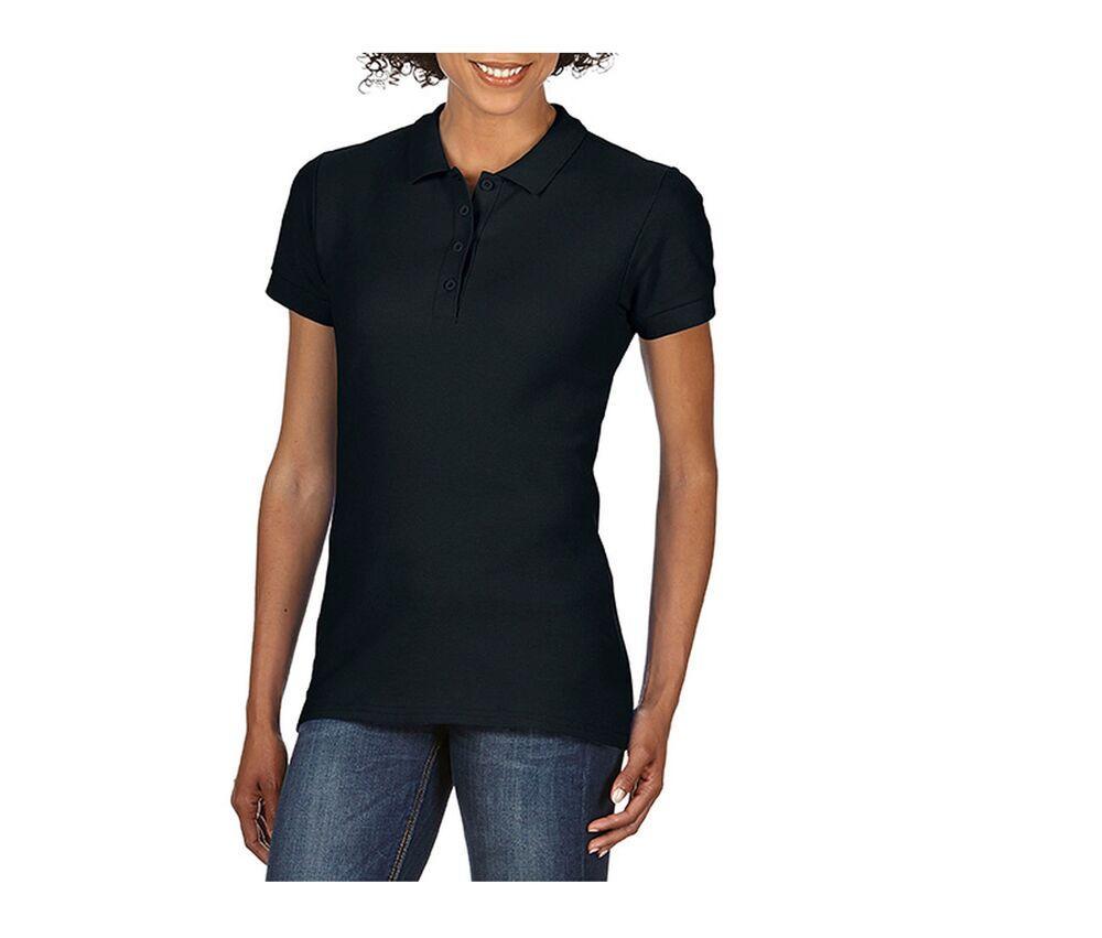 Gildan GN48L - Polo pour Femme Pique Noir - Taille M