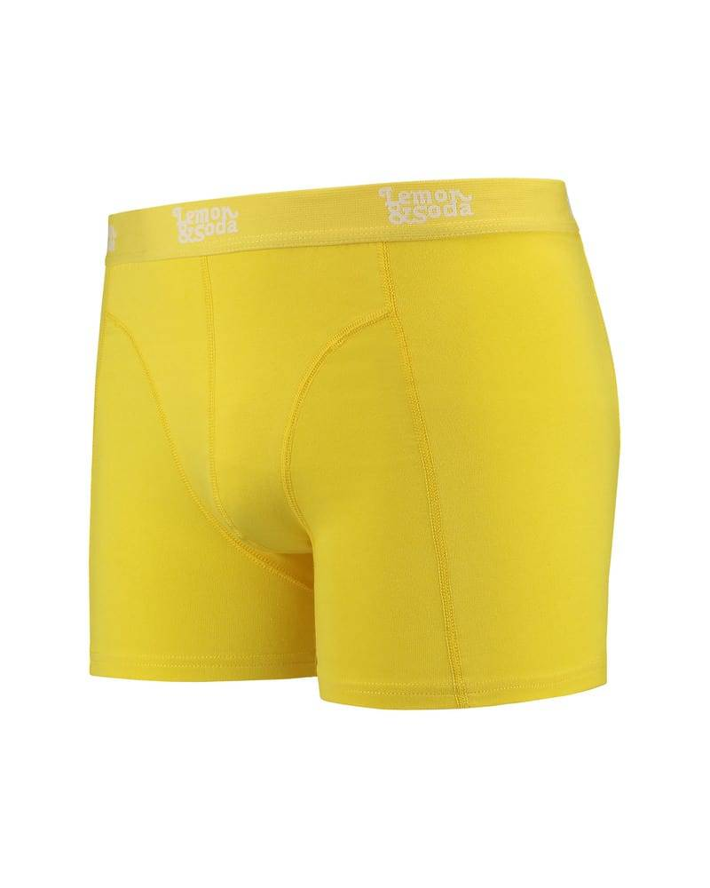 Lemon & Soda Sous-vetements Boxer Homme Electric Yellow - Lemon & Soda LEM1400 - Taille S