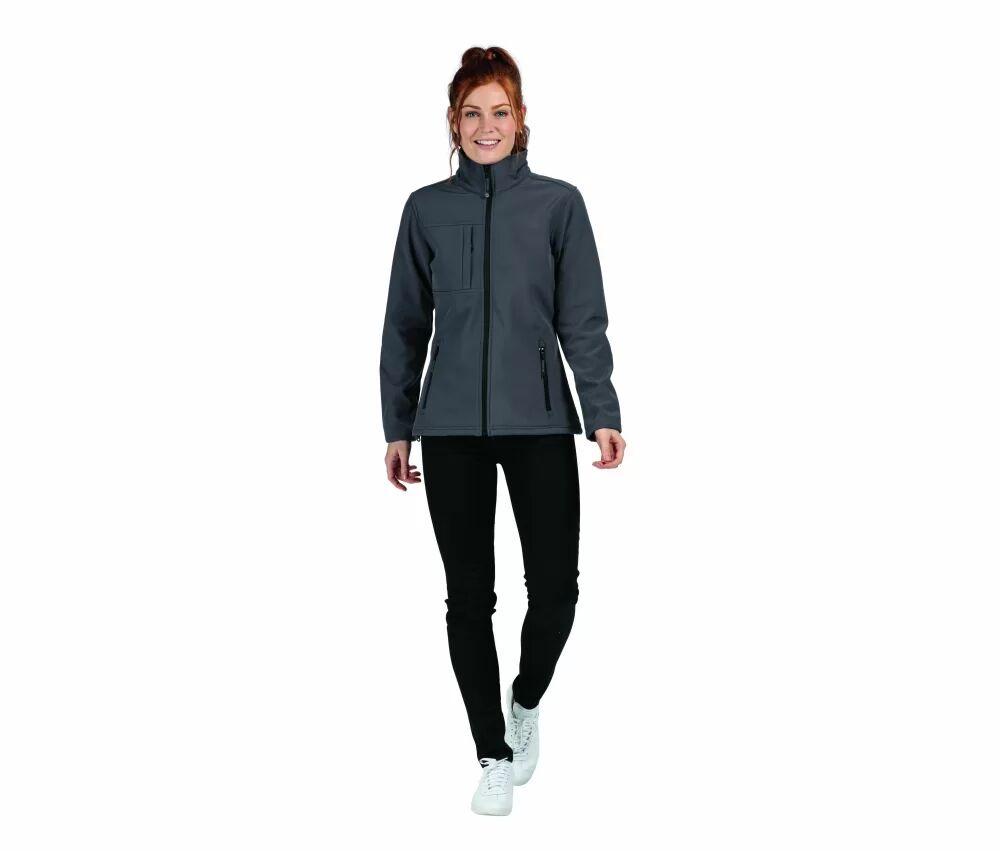 Regatta Softshell femme 3 couches Seal Grey/Black - Regatta RGA689 - Taille L