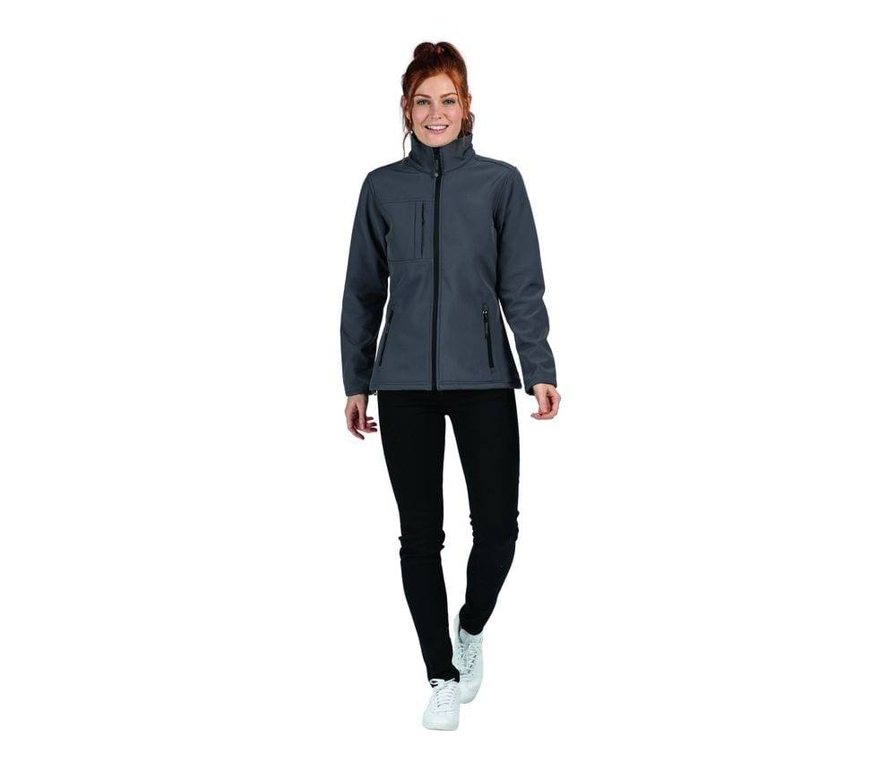 Regatta Softshell femme 3 couches Seal Grey/Black - Regatta RGA689 - Taille XL